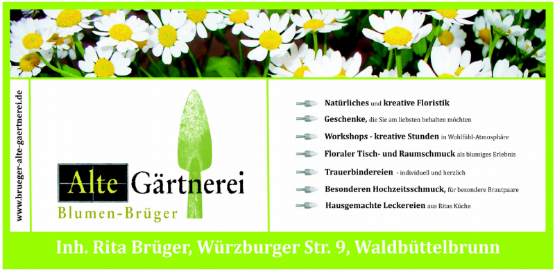 21 Werbung Gärtnerei