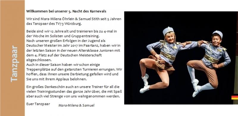 20 Tanzpaar Mara -  Milena - Samuel